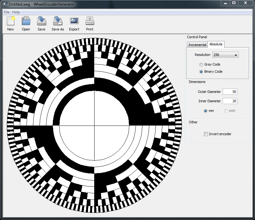 wheel encoder generator