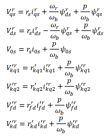 State Equation of Synchronous Machine (1)